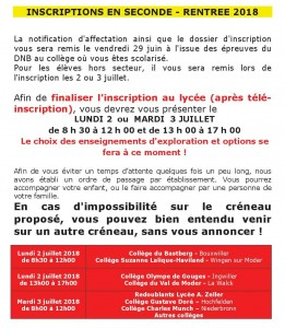 INSCRIPTIONS EN SECONDE-INFO SITE-image site