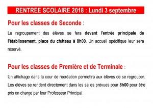 RENTREE SCOLAIRE 2018 site