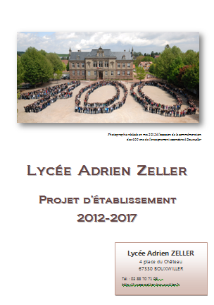 Projet d'établissement du lycée Adrien Zeller